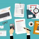 Impuestos, revisión de impuestos. concept: servicios de impuestos