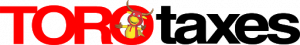 toro taxes logo. concept: tax preparation