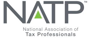 natp logo. concept: tax preparation