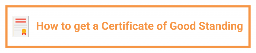 certificate of good standing: how to