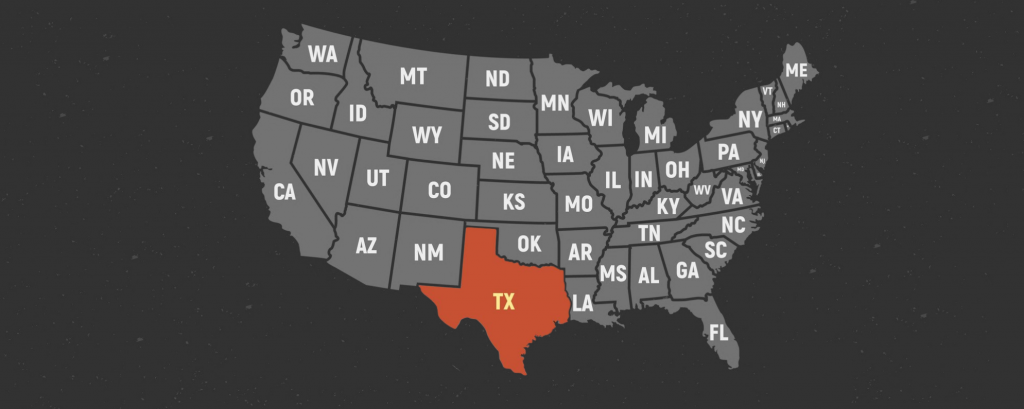 United States of America retro poster map. USA map with short state names. Vector US map with states. concept: United States of America retro poster map. USA map with short state names. Vector US map with states. Texas. concept: Small Business Loans In Texas