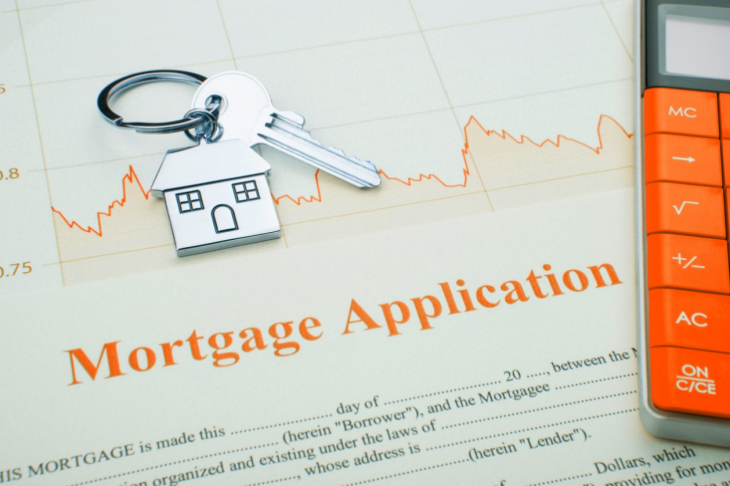 House on A Financial Graph. concept: Mortgage Loans for Minorities