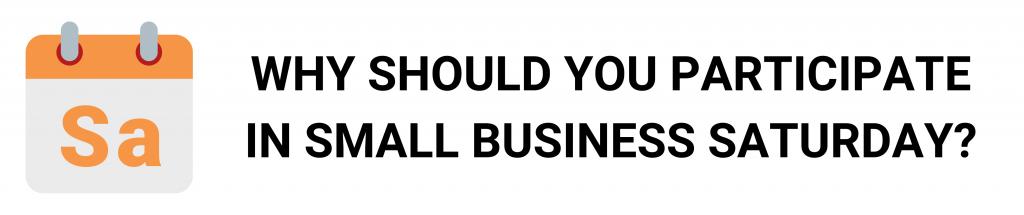 camino financial, small business saturday: participate