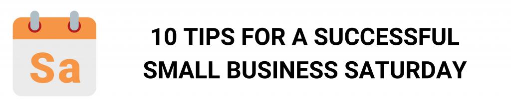 camino financial, small business saturday: tips