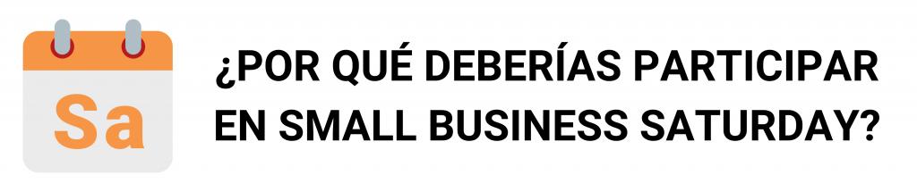 camino financial, small business saturday: participa