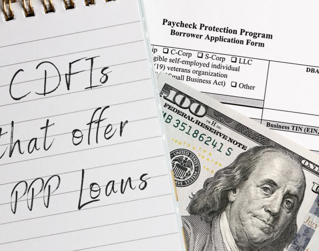 paycheck protection program. borrower application form.. Concept: CDFI