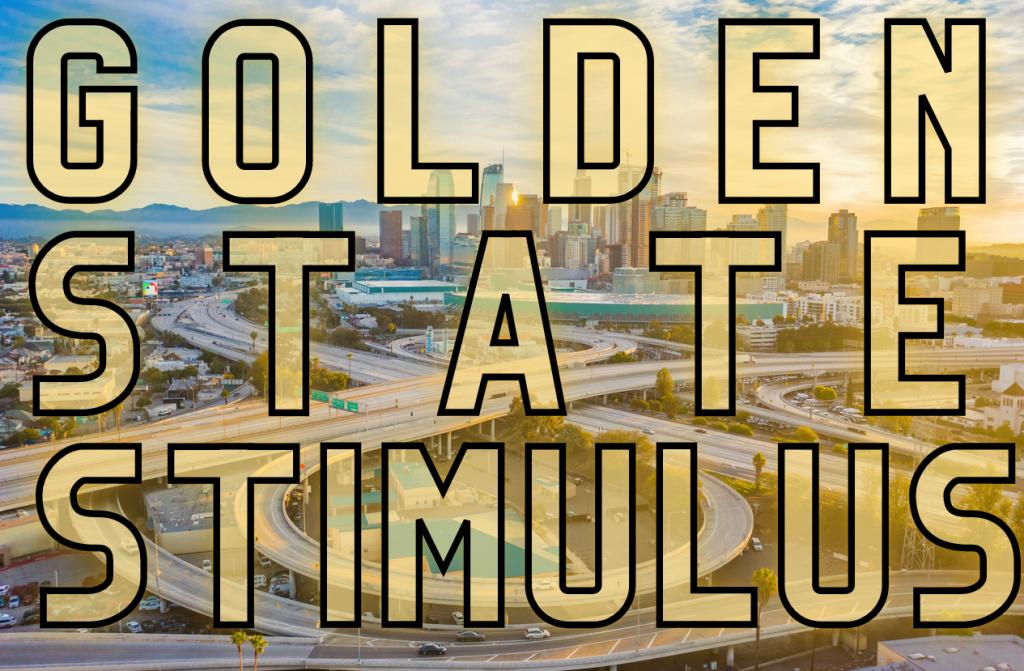 Carreteras vacías en california a causa de cuarentena. concept: golden state stimulus