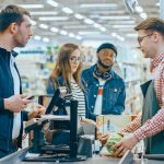 At the Supermarket: different Types of Consumers at Checkout Counter
